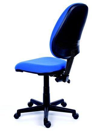 8083c5399c7e7 MAYAH Kancelárska stolička, modré čalúnenie, čierny podstavec, MaYAH