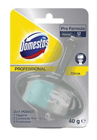 "WC blok, 40 g, DOMESTOS ""3 in 1"", citrus"