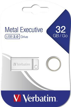 "USB kľúč, 32GB, USB 2.0,  VERBATIM ""Executive Metal"""
