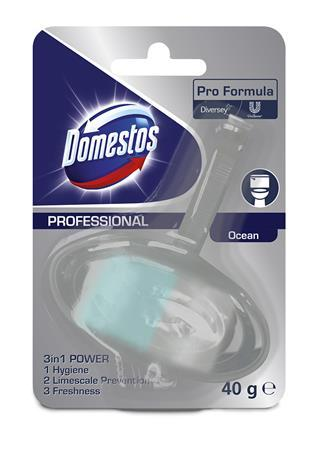 "WC blok, 40 g, DOMESTOS ""3 in 1"", oceán"