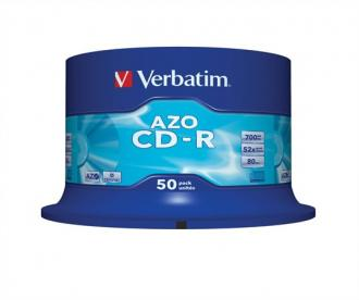 "CD-R 700 MB, Crystal, AZO, 700MB, 52x, cake box, VERBATIM ""DataLife Plus"""
