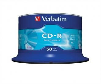 "CD-R 700 MB, 52x, cake box, VERBATIM ""DataLife"""